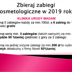 Zbieraj zabiegi kosmetologiczne w 2019 roku